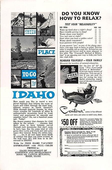 Stupendous Amazon Com Print Ad 1964 Contour Chair Lounge Test Your Creativecarmelina Interior Chair Design Creativecarmelinacom