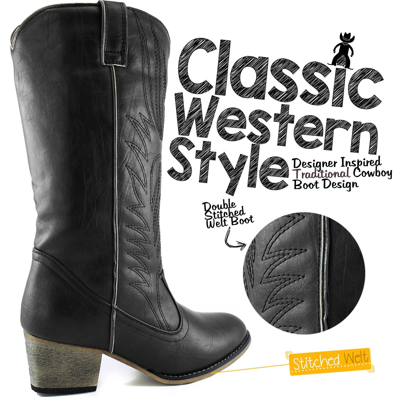 Boots Kitchen Appliances Voucher Amazoncom Dailyshoes Womens Embroidered Legend Western Cowboy