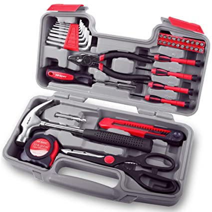 e97423292f7 Hi-Spec 39 Piece Household Tool Kit with Most Reached for Hand Tools for  Home