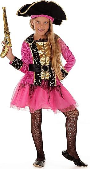 Princesa de Piratas – Piratas Disfraz infantil niña rosa de Negro ...