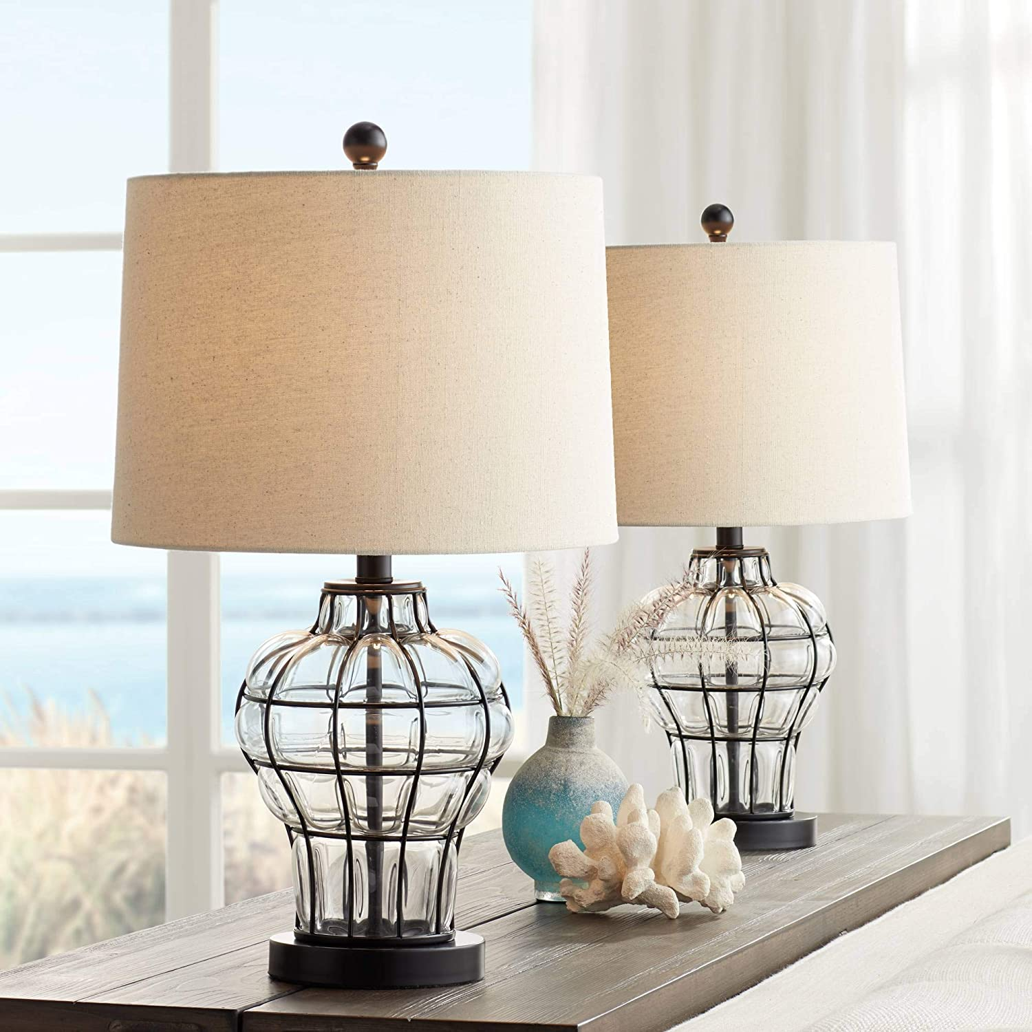 Hudson Modern Table Lamps Set of 2