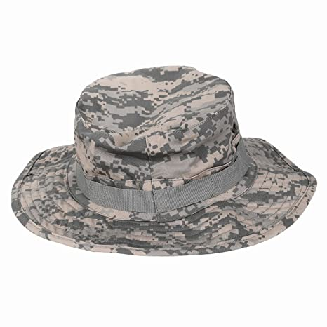 057e94973a9 SODIAL Camouflage Hat Boonie Fisherman Rounded Sun Protection Hat Outdoor  Climbing Jungle Men Women Tactics Cap