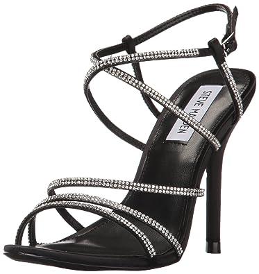 Steve Madden Women's Willa Heeled Sandal, Black/Multi, ...
