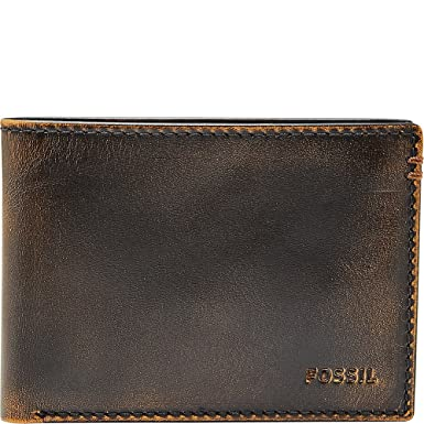 273d2957a9962c Fossil mens Wade Leather Front Pocket Bifold Wallet Wallet - Black -:  Amazon.co.uk: Clothing