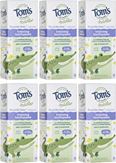 product image for Tom's of Maine Toddlers Fluoride-Free Natural Toothpaste in Mild Fruit Gel, 1.75 Ounce (Pack of 6)