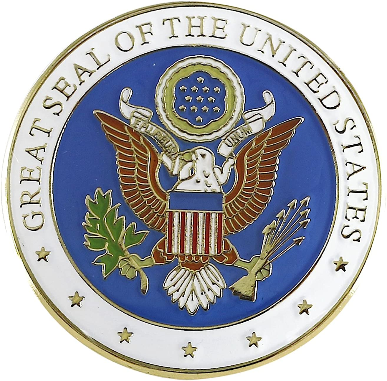 Great Seal of the United States Enamel Lapel Pin By Pinnacle Designs