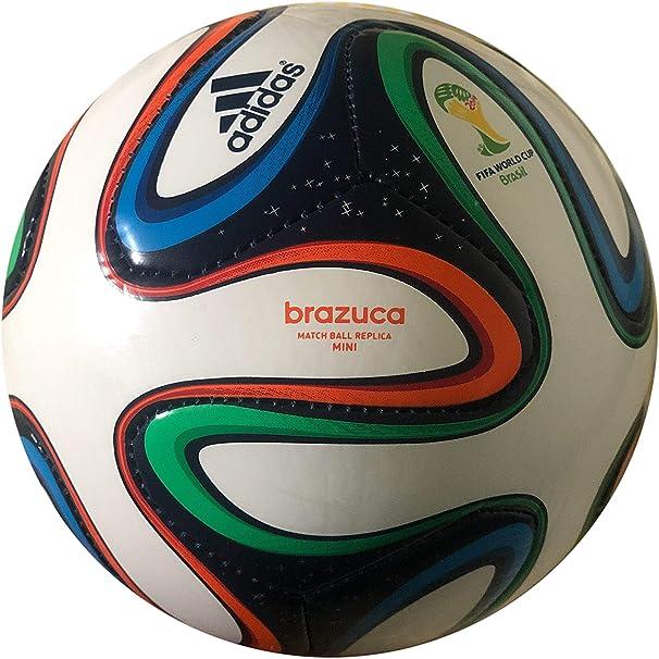 adidas Brazuca Mini balón de fútbol Copa del Mundo 1 Blanco ...