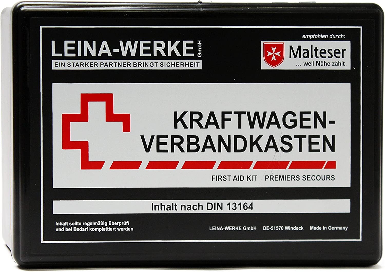 Leina Werke Ref 10104 Leina Kfz Verbandkasten Unser Bester Inhalt Din 13164 Schwarz Set Of 10 Auto