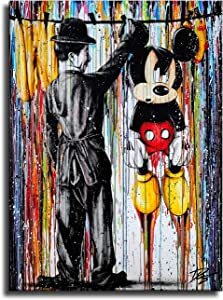 IFUNEW Graffiti Art Mickey Mouse Wall Decor Art for Living Room Bedroom Print Posters for Room Aesthetic Prints-80 (unframed,12x16inch)