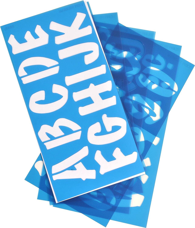 SH2//15841 C-Thru Stencil Helvetica Font 2-Inch Characters