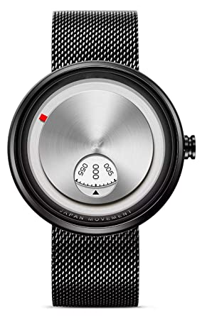 Buy Vilam Turnable Rotating Silver Dial Black Mesh Strape Watch For Men And Boys Online At Low Prices In India Amazon In