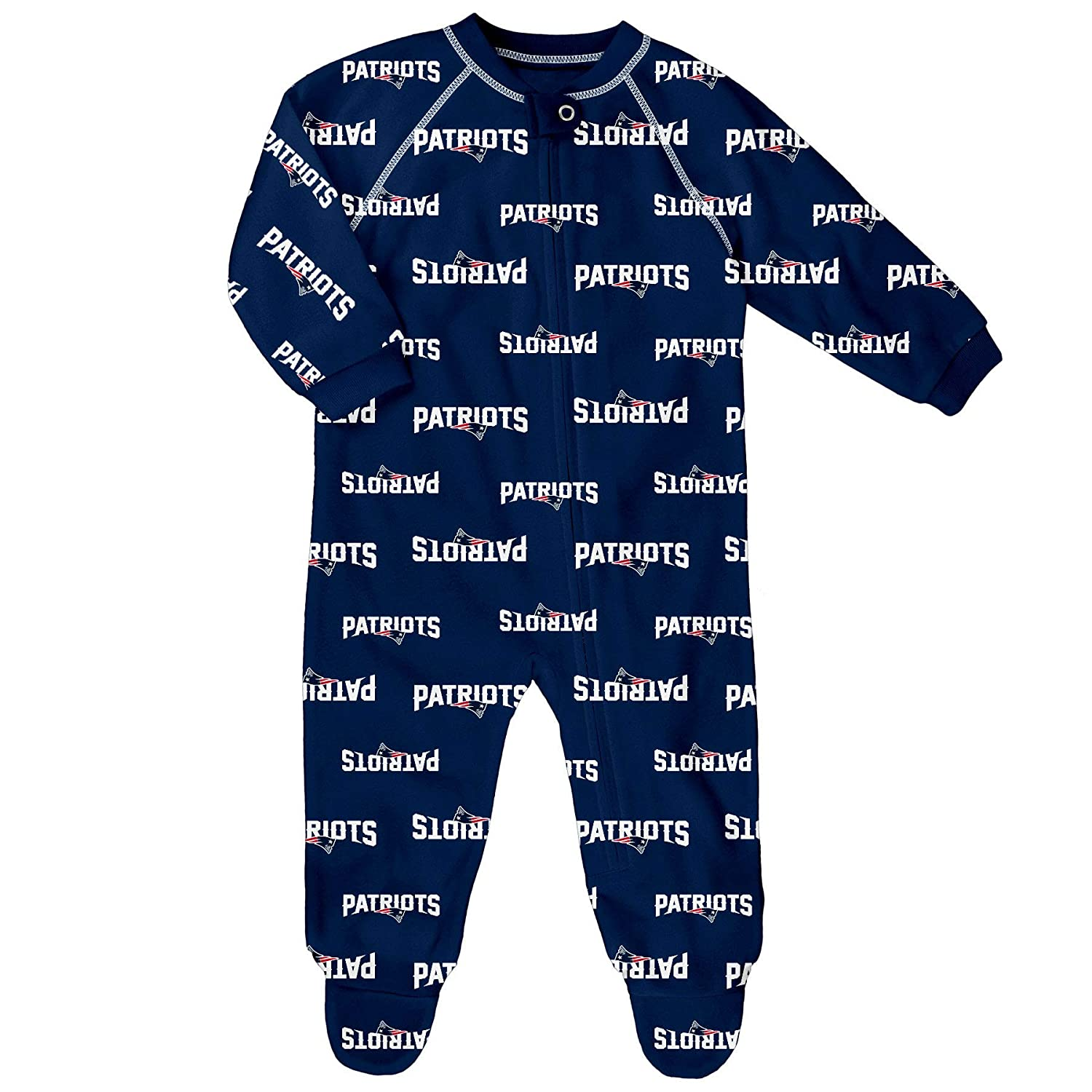 New England Patriots Newborn All Over Print Raglan Sleeper Outerstuff