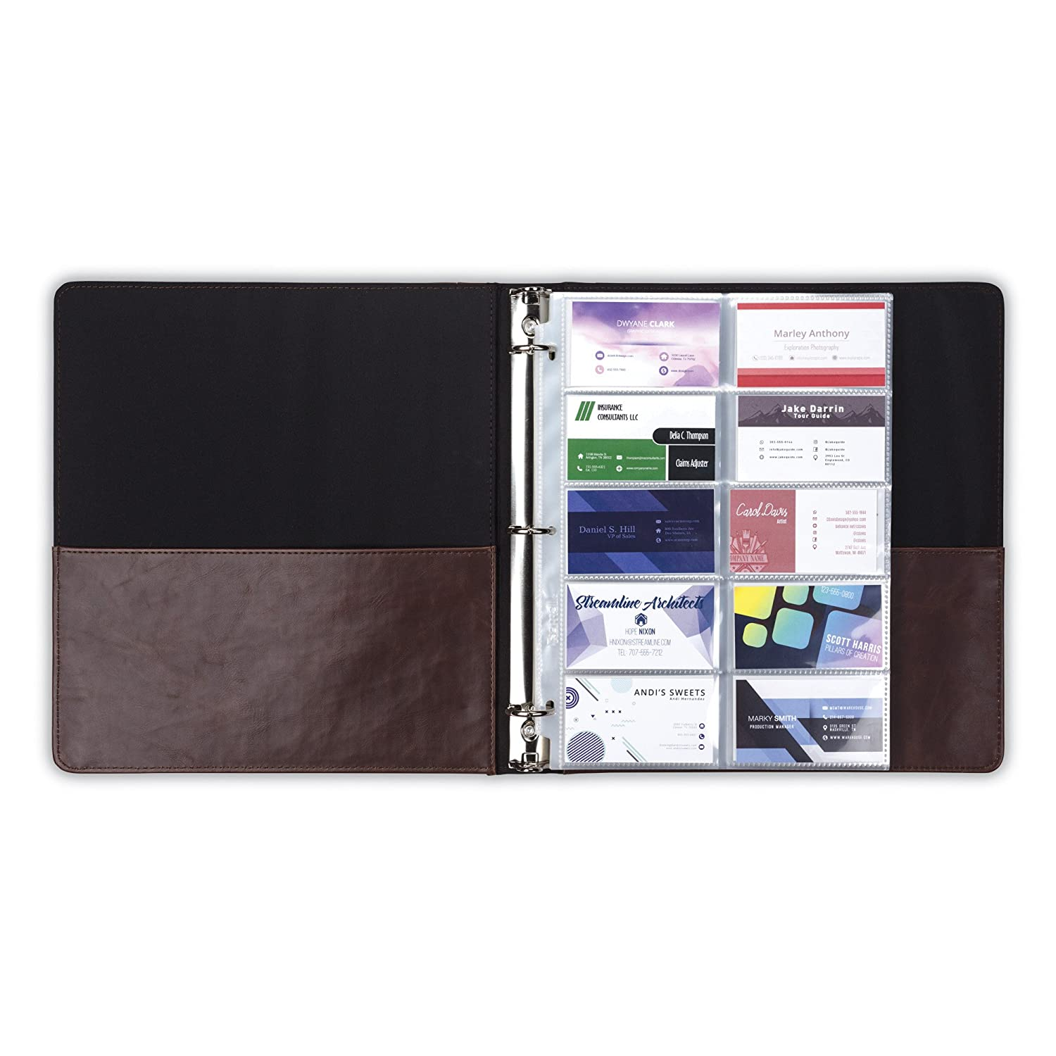 2 Pocket Top Loading 25 Pack Samsill 4x6 Photo Album Pages for 3 Ring Binder//Archival Photo Sleeves//Photo Holder//Postcard Holder//Sleeve Protectors