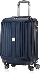 HAUPTSTADTKOFFER X-Berg - Maleta a Mano Rígida, Tamaño 55 cm, 42 litros, TSA, Color Azul Oscuro