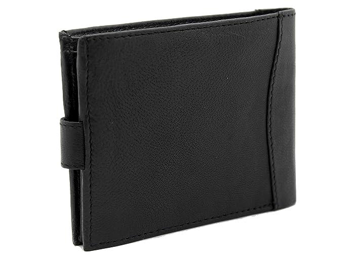 RAS® Bloqueo De RFID Para Hombres Cuero Suave De Lujo De Alta Calidad Ventana ID #340: Amazon.es: Zapatos y complementos