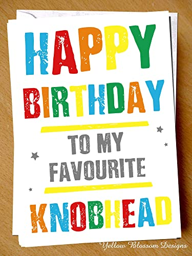 Funny Rude Insulting Insult Birthday Card Happy Birthday To My