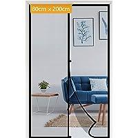 Yotache Magnetisch vliegengaas, deur, insectenbescherming, balkondeur, 80 x 200 cm, voor opslagdeur, balkondeur…