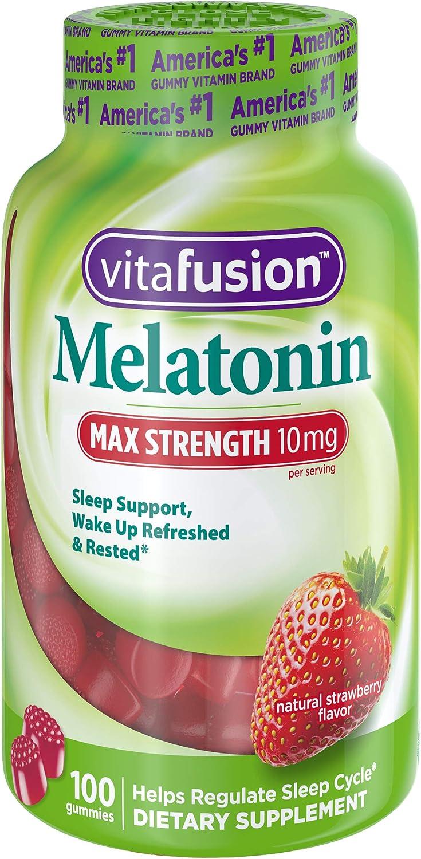 Amazon.com: Vitafusion Max Strength Melatonin 10mg, Adulto ...