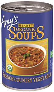 Amy's Soup, Vegan, Gluten Free, Organic Hearty French Country Vegetable, 14.4 Ounce