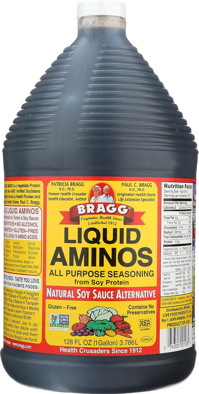 Bragg Liquid Aminos, All Purpose Seasoning, 128 Ounce