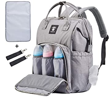 8b5a2e46ee1a Extra Large Diaper Bag Backpacks, Wide Opening Baby Diaper Bags for Mom  Dad, FRANK MULLY...