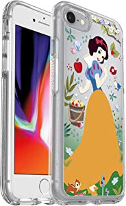 OtterBox Symmetry Series Disney Power of Princess Case for iPhone SE (2nd gen) and iPhone 8/7 (NOT Plus) - Retail Packaging - Forest of Kindness (Snow White) (Silver Flake/Clear/Snow White Graphic)