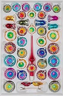 Christbaumkugeln Erfunden.Amazon De 12 Tlg Glas Weihnachtskugeln Set In Hochglanz Vintage
