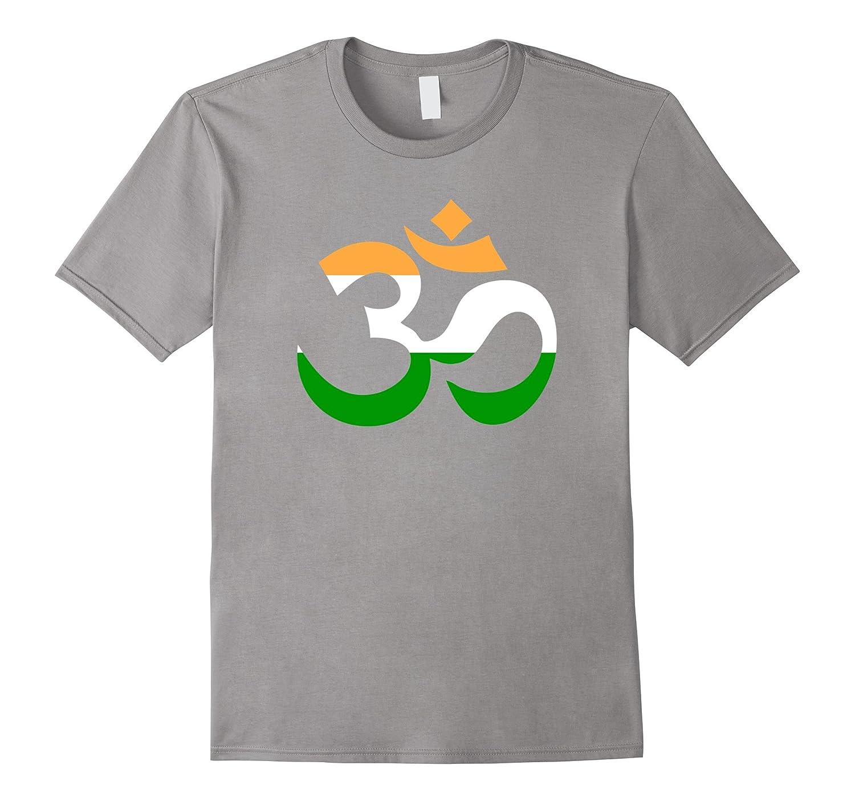 Om symbol - India flag - T-shirt-BN