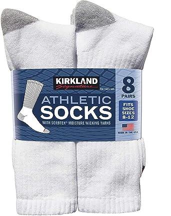 74375038e Kirkland Signature Men s White Athletic Sock (pack of 8 pairs) at ...