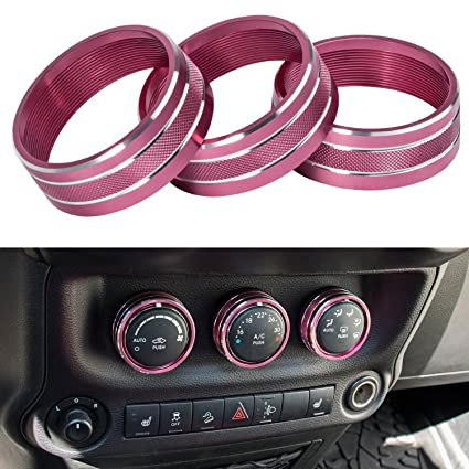 amazon e cowlboy interior audio air conditioning button cover 2016 Jeep Wrangler Interior e cowlboy interior audio air conditioning button cover decoration twist switch ring trim for jeep