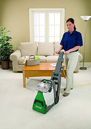 Bissell BigGreen Commercial BG10 Deep Cleaning 2 Motor Extracter Machine w Upholstery Tool, and 32 OZ Shampoo Bundle