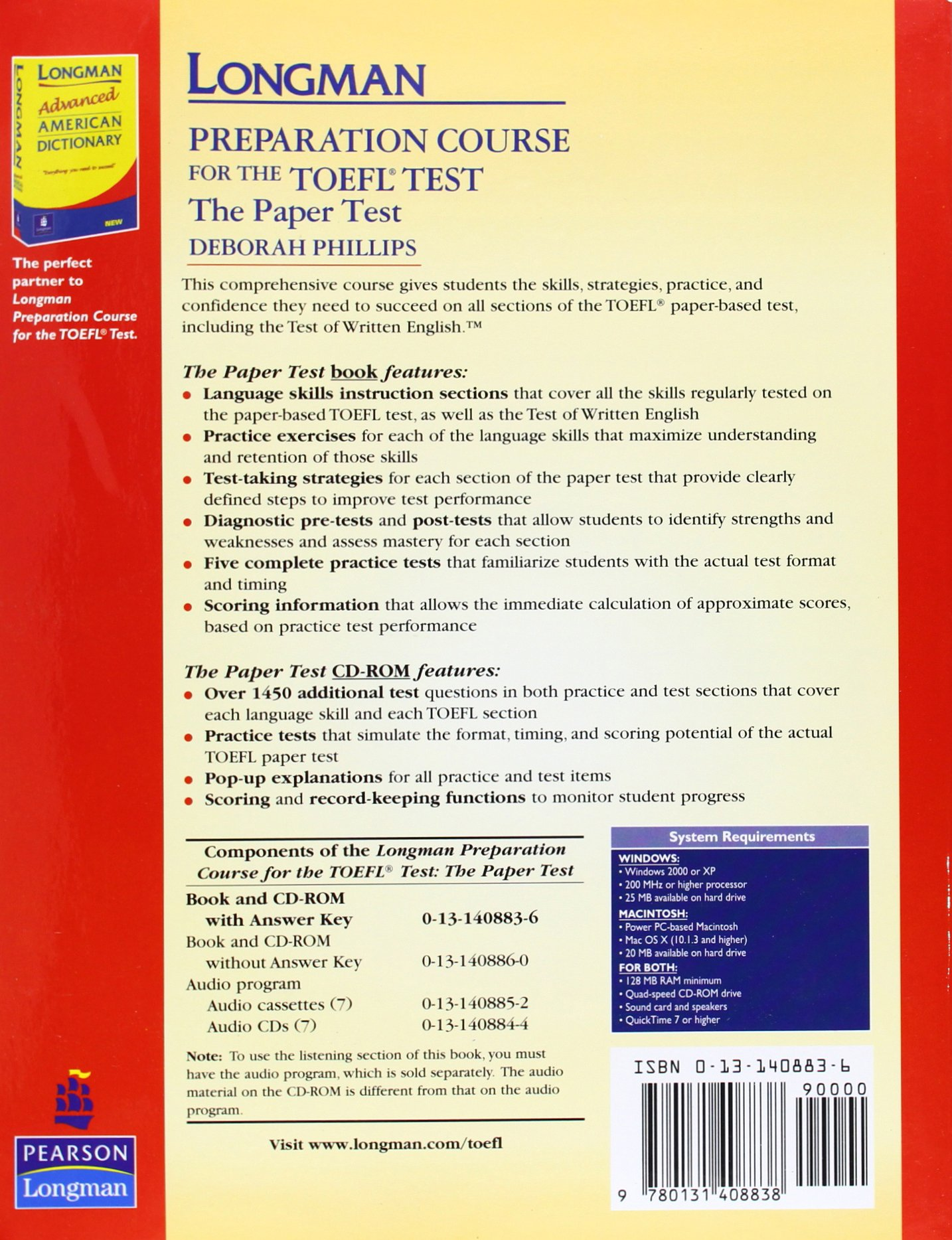 Buy Longman Preparation Course For The Toefl Test The Paper Test