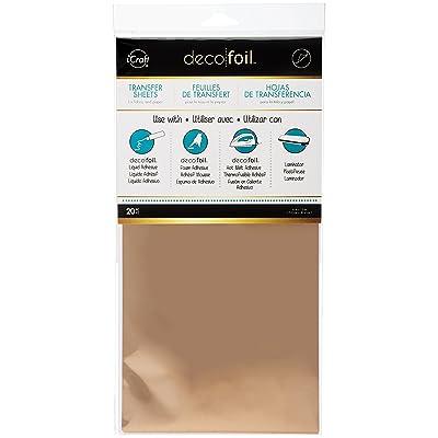 Hoja de Transferencia Thermoweb Deco Foil 6 x 12 pulgadas de oro rosa de 20 s: Oficina y papelería