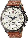 Swiss Military 6-4224.30.002 - Reloj de pulsera hombre, piel, color marrón