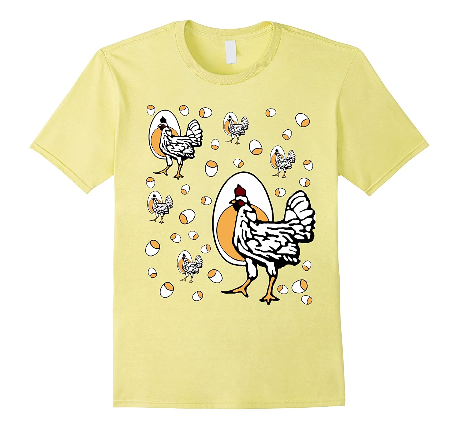 Retro Roseanne Chickens Men/'s White Tees Shirt Clothing
