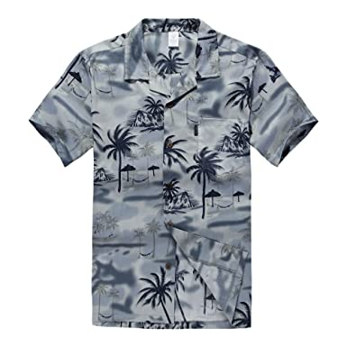 412d908975a Palm Wave Men s Hawaiian Shirt Aloha Shirt at Amazon Men s Clothing ...