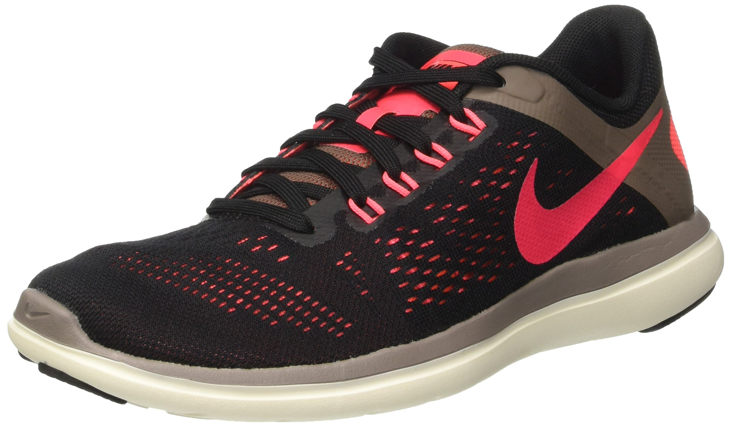2e11182e4ce08 Galleon - Nike Women s Flex 2016 RN Running Shoes Black Hot Punch Dark  Mushroom Sail 7.5 B(M) US