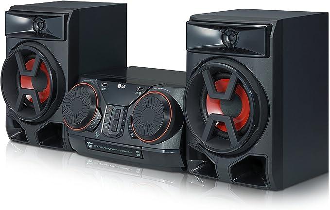 LG XBOOM CK43 - Equipo de Sonido de Alta Potencia (Potencia 300 W, Bluetooth, USB Dual, Entrada AUX, Radio FM, Reproductor CD, Auto DJ, Wireless Party Link, EZ File Search, TV Sound