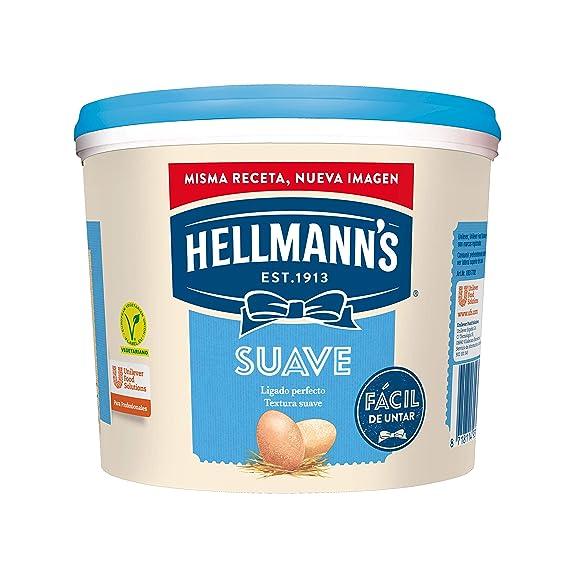 Hellmanns salsa mayonesa profesional sabor suave - cubo 5l