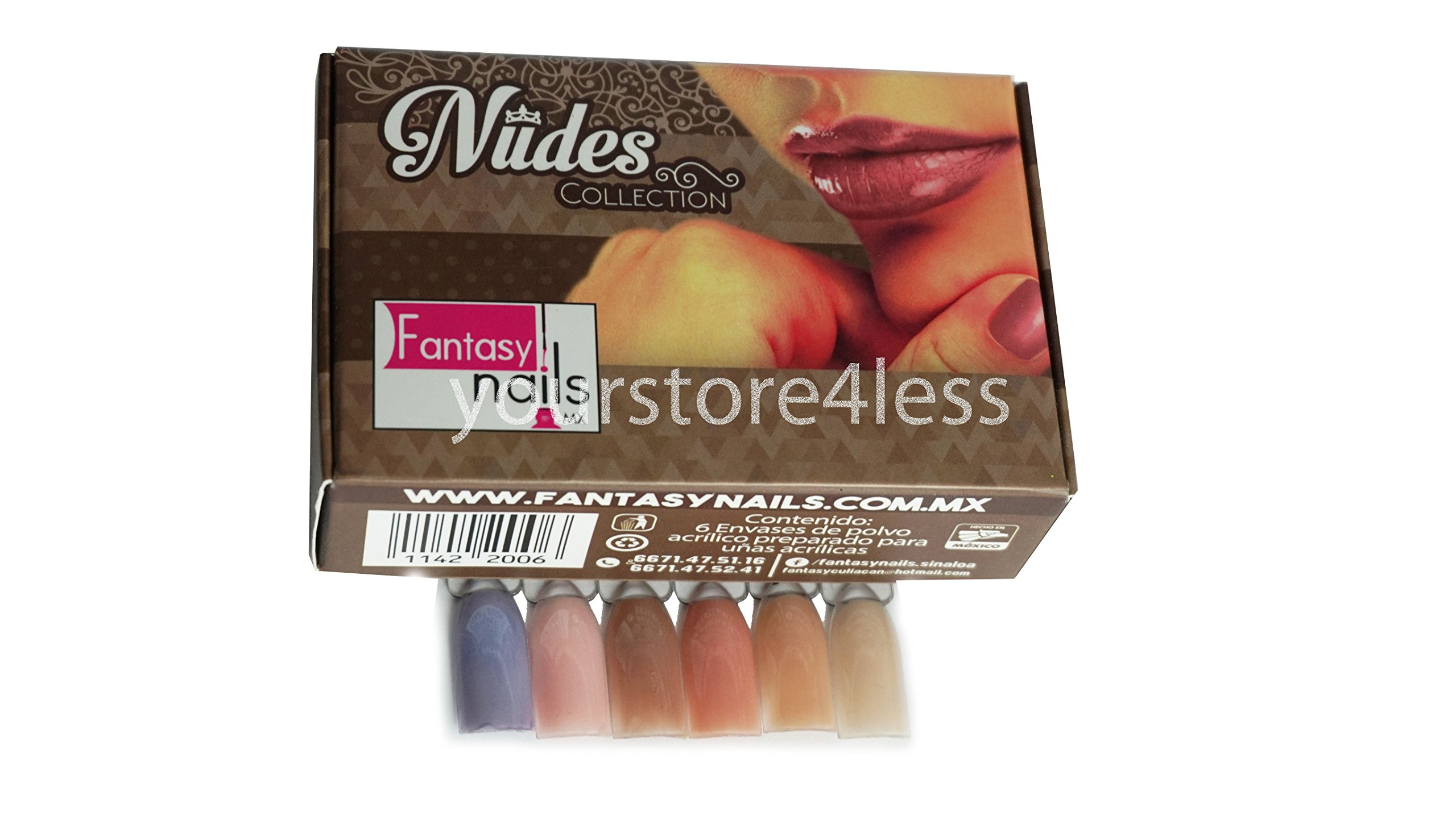 Amazon.com: Fantasy Nails Sinaloa - Acrylic Powder Collection 6 pcs ...