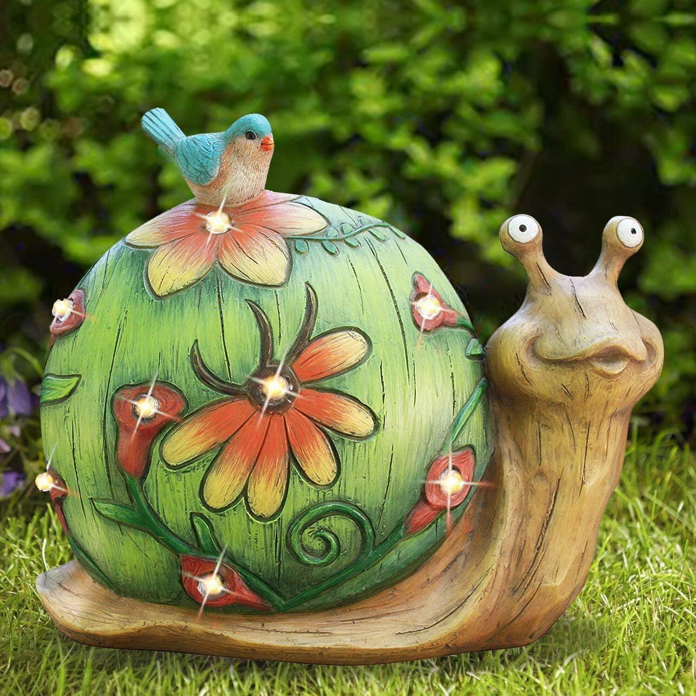 EXQUAILTY Garden Sculptures & Statues,Garden Animal Statues,Lawn Ornaments Animals,Outdoor Sculptures Statue, Patio Lawn Yard Statues Art Ornaments (A)