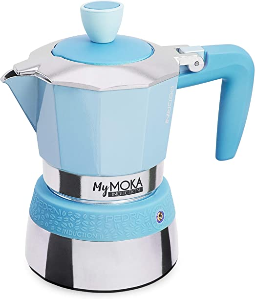 Pedrini MyMoka - Cafetera de inducción Inducción Mymoka 3 Tazze Cloudnine: Amazon.es: Hogar