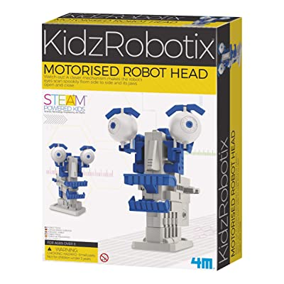 4M Motorized Robot Head Kids Science Kit: Toys & Games