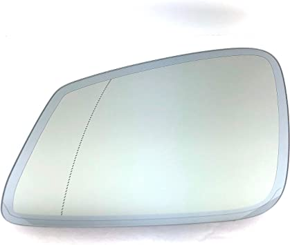 Left passenger side wing mirror glass for BMW X5 2013-2018 heated