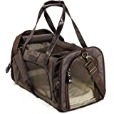 Next Level Pet Soft Sided Foldable Pet Carrier, Leather Style, Small to Medium, Dog & Cat TSA Approved