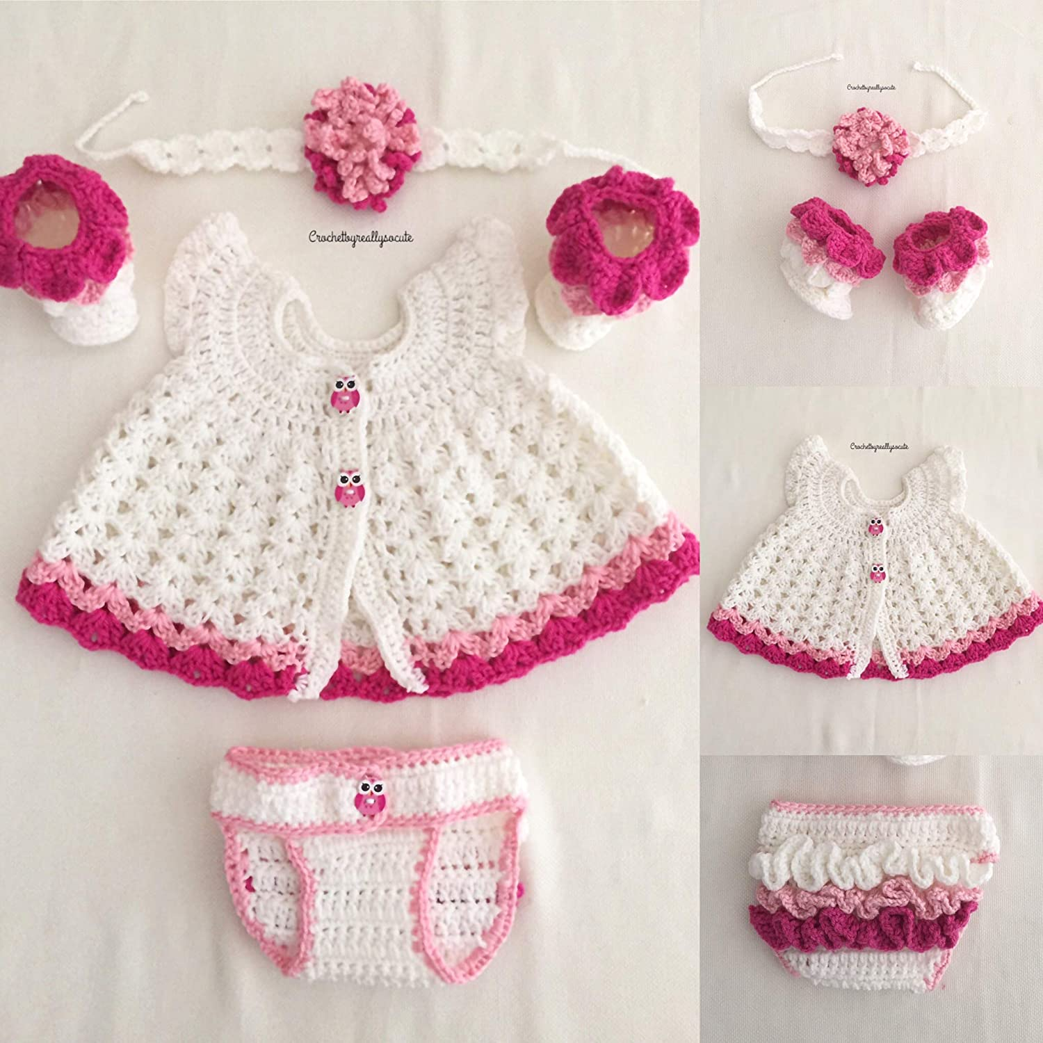 3e100640a84 Amazon.com: baby girl pink set, baby girl outfit, ruffled baby ...