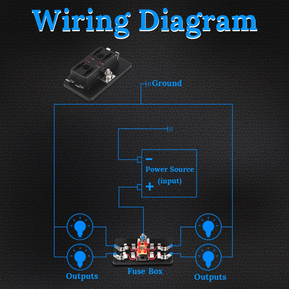 Waterwich Marine Boat Car 8 Gang On Off Ignition 3 Pin Waterproof Led Atv Wiring Diagram Toggle Rocker Switch Panel 12v 24v Circuit Breaker Blue