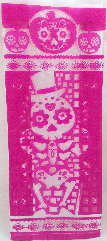 Amazon.com: Day of the Dead Dia De Los Muertos Treat Bags 20ct: Toys ...