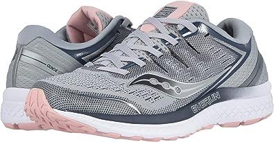 5cdc9858 Saucony Women's Guide ISO 2 Sneaker (8.5 B(M) US, Grey/Blush)