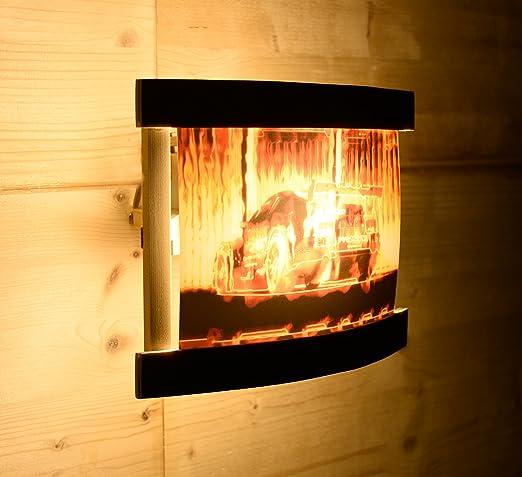 Lámpara de pared de madera Opel Calibra trasero alas DTM Uwe alzen en llamas Gatillo